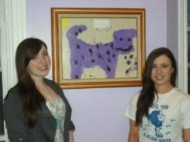 photo purple cow framed drawing